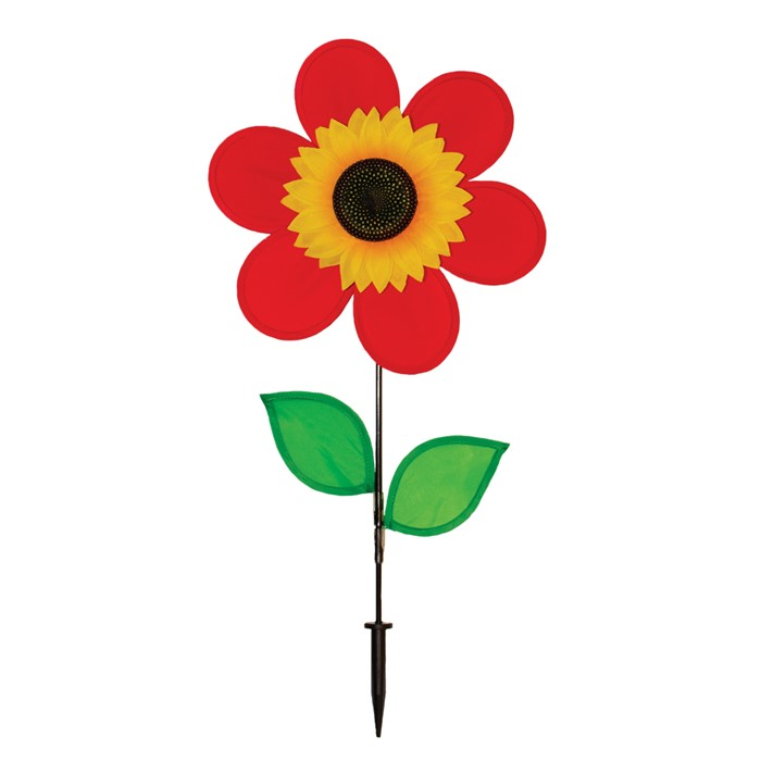 "12"" Sunflower with Leaves - Red"